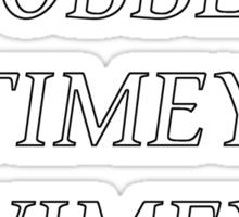 Timey Wimey Stuff Sticker