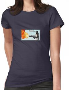 Penguin with a flamethrower... Womens Fitted T-Shirt
