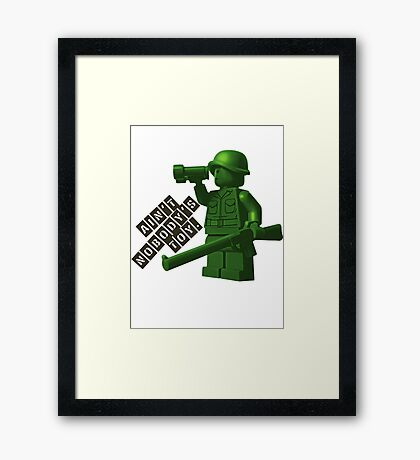 Ain't Nobody's Toy Framed Print
