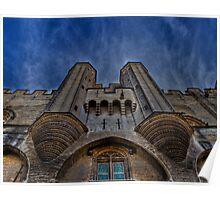 Palais des Papes - Front view Poster