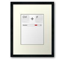 Web Developer Control Find Boyfriend Framed Print