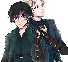Draco and Harry by arisa-chibara