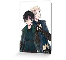Draco and Harry Greeting Card