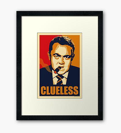 CLUELESS Framed Print