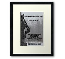 10th Mountain Song Framed Print