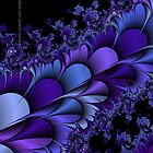 Purple Petals Fractals by Susan Sowers