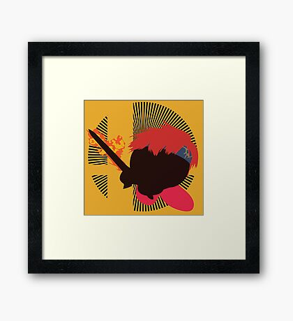 Roy (Kirby Hat) - Sunset Shores Framed Print