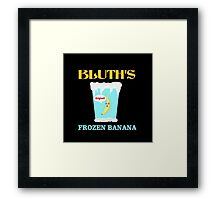 Frozen Banana! Framed Print