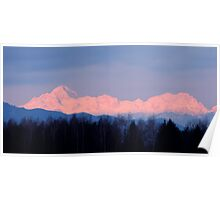 The distant Julian Alps aglow Poster