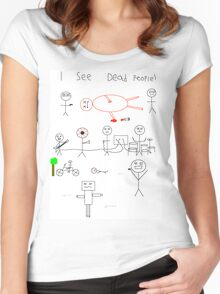 i see dead people (white) Women's Fitted Scoop T-Shirt