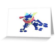 Low-PolyMon - Greninja Greeting Card