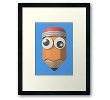 Googly-Eyed Pencil Framed Print