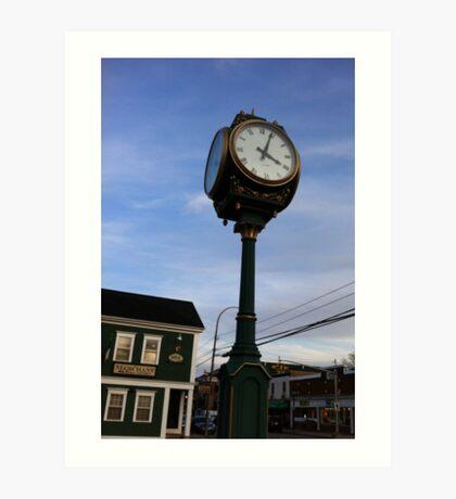 Wolfville at Sunset - Clock Art Print