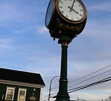 Wolfville at Sunset - Clock by Chris Carruthers