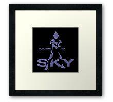 Ultraman Tiga - Sky Type Framed Print