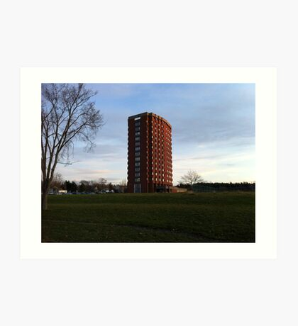 Wolfville at Sunset - Crowell Tower Art Print