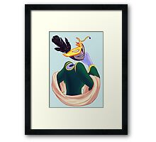 August - Crow's Smile Framed Print