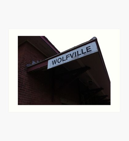 Wolfville at Sunset - Railway Sign Art Print