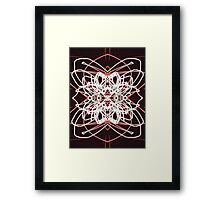 Abstract cosmic explosion Framed Print