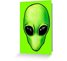 Alien Head Icon (1) Greeting Card