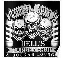 Barber Skulls: Hell's Barber Shop & Hookah Lounge Poster