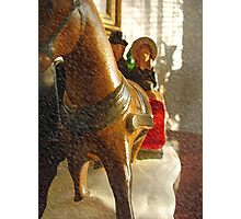 Indoor Sleigh Ride Photographic Print