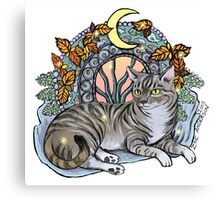 Tabby Cat Meowveau Canvas Print