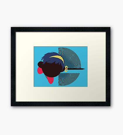 Marth (Kirby Hat) - Sunset Shores Framed Print