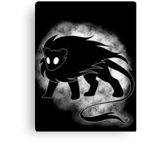 Spooky Lion Canvas Print