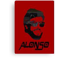 Fernando Alonso design Canvas Print