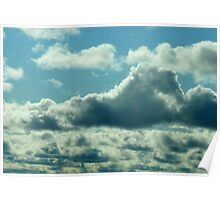 Horse Cloud..Swimming Across The Sky Poster