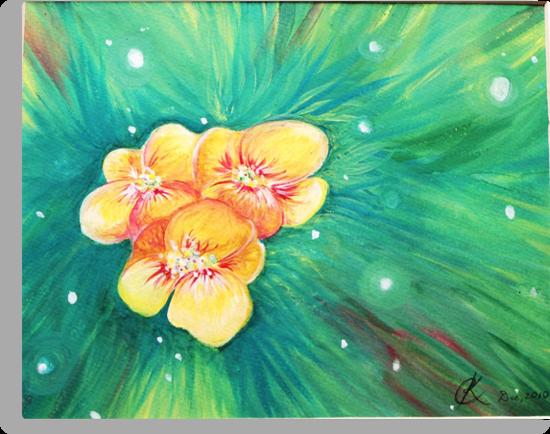 Golden Flowers by Chocobunni
