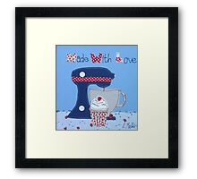 Made with Love cupcake  Framed Print