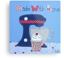 Made with Love cupcake  Metal Print