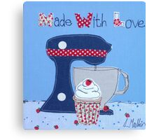Made with Love cupcake  Canvas Print