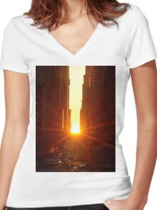 When Time Stands Still Women's Fitted V-Neck T-Shirt