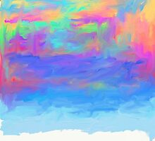 abstract colorful painted background by Orderposter