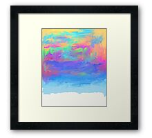 abstract colorful painted background Framed Print