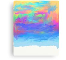 abstract colorful painted background Canvas Print