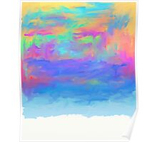 abstract colorful painted background Poster