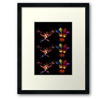 Crash Bandicoot & Mask Framed Print