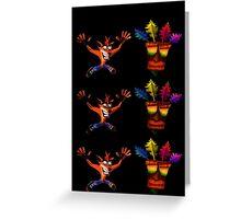 Crash Bandicoot & Mask Greeting Card