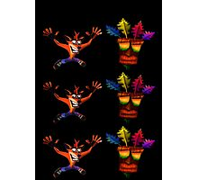 Crash Bandicoot & Mask Photographic Print