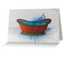 Copper Bath 2 Greeting Card