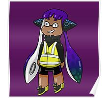 Inkling Girl - Purple/Green Poster