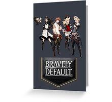 Bravely Default characters Greeting Card