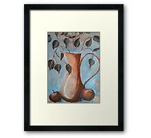 HIDDEN TOUCH  - Still life with apples Framed Print