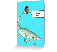 Loch Ness Mobster Greeting Card