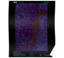 USGS Topo Map Washington State WA Welker Peak 244573 1989 24000 Inverted Poster