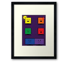 Reflections of Us- Purple Framed Print